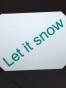 Isskrapor , välj tryck - Let it snow vit/petrol