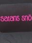 Isskrapor , välj tryck - Satans snö svart/neonrosa