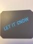 Isskrapor , välj tryck - Let it snow grå/blå
