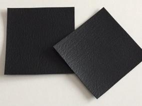 Lappar i fuskskinn 2-p, välj färg - 2-p svarta
