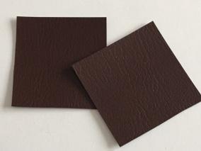 Lappar i fuskskinn 10-p, välj färg - mörkbruna 10-p
