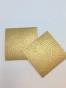 Lappar i fuskskinn 10-p, välj färg - Guld 10-p