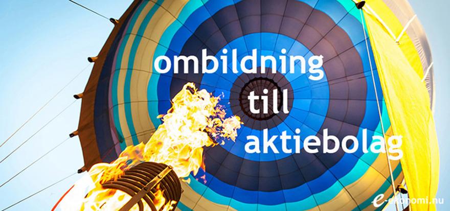 Hjälp med ombildning av ditt företag till aktiebolag? E-ekonomi i norra Skåne hjälper företag med ombildning av enskilda firmor till aktiebolag.