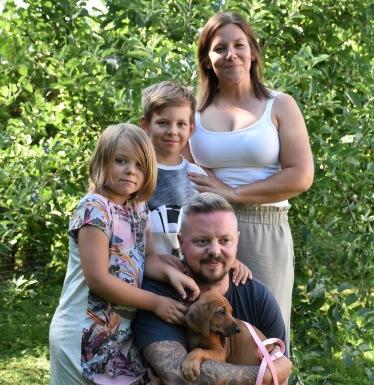 Familjen Jelleryd med Roxy