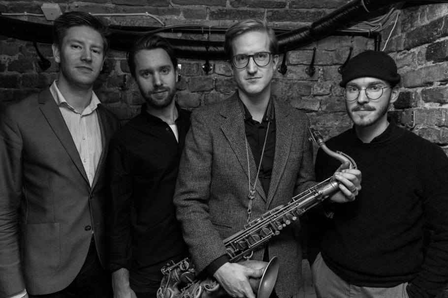 Pressbild Samuel Muntlin Kvartett. Foto: Nicklas Lindgren