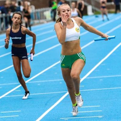 Fredrika Pettersson - Jasmin Sabir - Josefine Sandelius - Beata Edelholm Stafett 4*100 meter - 2:a - 49,04
