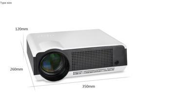 Projektor med inbyggd Android dator 4500 lumens Full HD Led, smart tv Projektor - Led86 projektor vit