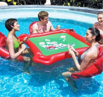 Pokerbord i vattnet - Vattenpokerbord
