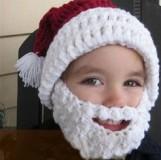 Julmössa med skägg till barn