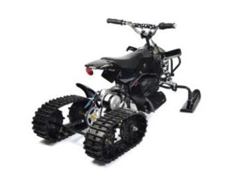 Frän elektrisk snöskoter 50cc - 50cc snöskoter Svart