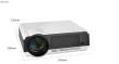 Projektor med inbyggd Android dator 4500 lumens Full HD Led, smart tv Projektor - Led86 projektor ink 100