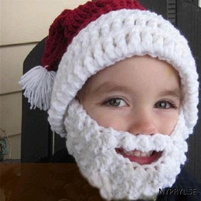 Jultomte mössa med skägg