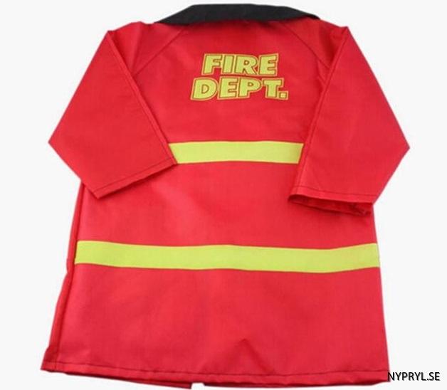 barn brandman dräkt baksida