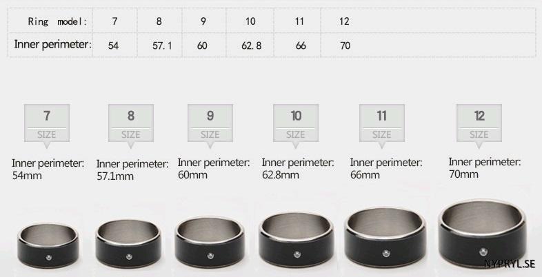 smart ring storlek