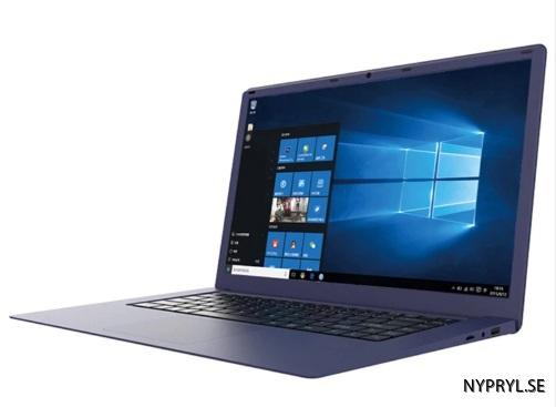blå laptop