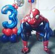 Spiderman ballong 63cm stor - spindelman ballong
