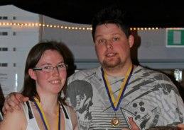 Tommy och Sandra tog en 6:e plats i Nackswinget den 23/2-2011.