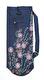 Yogaväska - Lena´s Hatha Yoga - Yogaväska Blå med broderade blommor