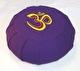 Meditationskudde med broderad Om-symbol - Lena´s Hatha Yoga - Meditationskudde Lila