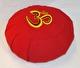 Meditationskudde med broderad Om-symbol - Lena´s Hatha Yoga - Meditationskudde Röd