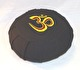 Meditationskudde med broderad Om-symbol - Lena´s Hatha Yoga - Meditationskudde Svart