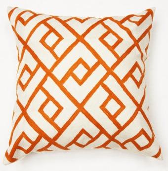 Kuddfodral - Orange Check - Orange Check