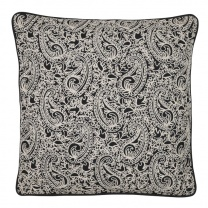 Kuddfodral Paisley Black Embroidery
