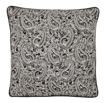 Kuddfodral Paisley Black Embroidery - Kuddfodral Paisley black embroidery