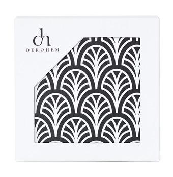 Glasunderlägg Palm Black 4-pack - Glasunderlägg Palm Black