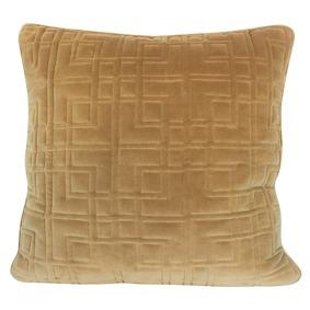 Sammetskudden Maze Desert från Dekohem. Quiiltad bomullssammet.  60x60 cm.