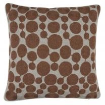Chamois Embroidery Dots Brown