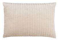 Kuddfodral Chamois Velvet Stripe Oyster 40x60, www.cushbeyond.se