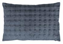 Kuddfodral Chamois Velvet Denim Blue box 40x60, www.cushbeyond.se