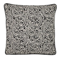 Kuddfodral Chamois Paisley Embroidery Black, www.cushbeyond.se