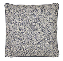 Chamois Kuddfodral Paisley Dusty Blue Embroidery, www.cushbeyond.se