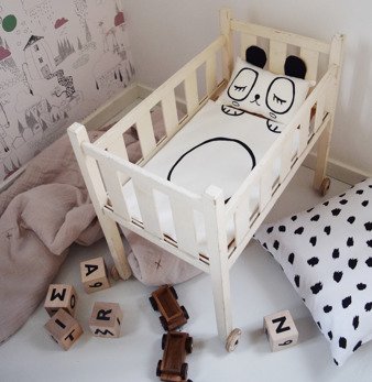 Panda doll bedding