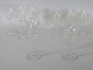 5 st snapsglas samt 6 st portvinsglas
