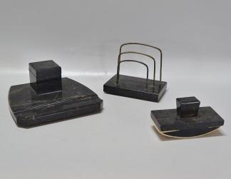 Skrivbordsuppsats, marmor, 3 delar
