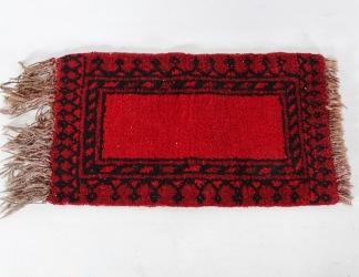 Liten handknuten matta, orientalisk, ca 54*31 cm