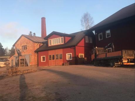 Smedjan på Högmarsö varv under utbyggnad inför hösten 2018.