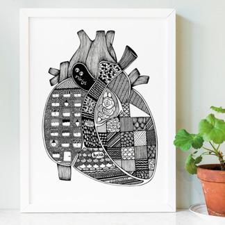 Anatomiskt hjärta