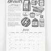 Bakverkskalender 2018 - svartvit