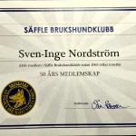 Sven-Inge Nordström 50 År i Klubben