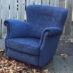 blå fåtölj
