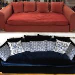 blå soffa före:efter