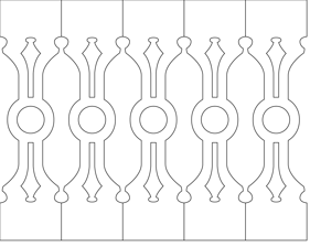 Räcke snickarglädje 002. Köp Snickarglädje och dekoration till verandan, farstukvisten, hela huset och villan. Måttanpassade konsoler och räcken med snickarglädje. Du hittar träräcke, trästaket med detaljer, mönster, ornamnent, dekoration för huset, snideri, träsnideri och snickarglädje med krusiduller och krumelurer till fastukvisten och verandan samt dekor till taket och vindskivorna. Nockdekor och gavelornament. Dekoration till fönster och överliggare med dekorativt fönsterfoder. Prisvärt, svensktillverkat och snabb leverans.