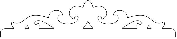 Gaveldekor Fönsterdekor 002.  Köp Snickarglädje och dekoration till verandan, farstukvisten, hela huset och villan. Måttanpassade konsoler, staket och räcken med snickarglädje. Du hittar gammaldags träräcke att köpa, trästaket med detaljer, mönster, ornament, dekoration för huset, snideri, träsnideri och snickarglädje med krusiduller och krumelurer till farstukvist och veranda samt dekor till taket och vindskivorna. Nockdekor och gavelornament. Dekoration till fönster och överliggare med dekorativt fönsterfoder. Prisvärt, svensktillverkat och snabb leverans.
