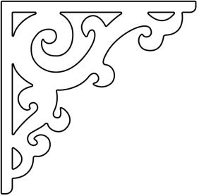 Gaveldekor konsol 001. Köp Snickarglädje och dekoration till verandan, farstukvisten, hela huset och villan. Måttanpassade konsoler, staket och räcken med snickarglädje. Du hittar gammaldags träräcke att köpa, trästaket med detaljer, mönster, ornament, dekoration för huset, snideri, träsnideri och snickarglädje med krusiduller och krumelurer till farstukvist och veranda samt dekor till taket och vindskivorna. Nockdekor och gavelornament. Dekoration till fönster och överliggare med dekorativt fönsterfoder. Prisvärt, svensktillverkat och snabb leverans.
