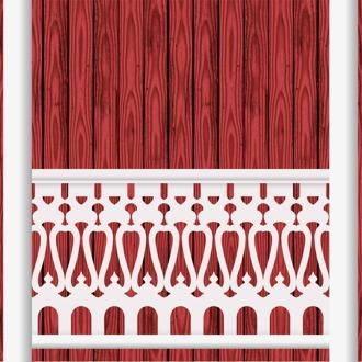 Bilden visar 9 st ribbor tillsammans med kompletterad över- och underliggare. Gaveldekor Snickarglädje.