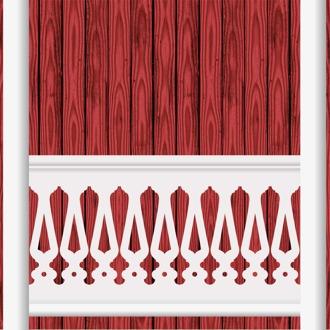 Bilden visar 9 st ribbor tillsammans. Gaveldekor Räcke snickarglädje 003